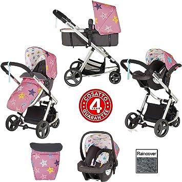 Cosatto Giggle Mix Cochecito y silla de paseo en Happy Stars con asiento de coche y protector de lluvia: Amazon.es: Bebé