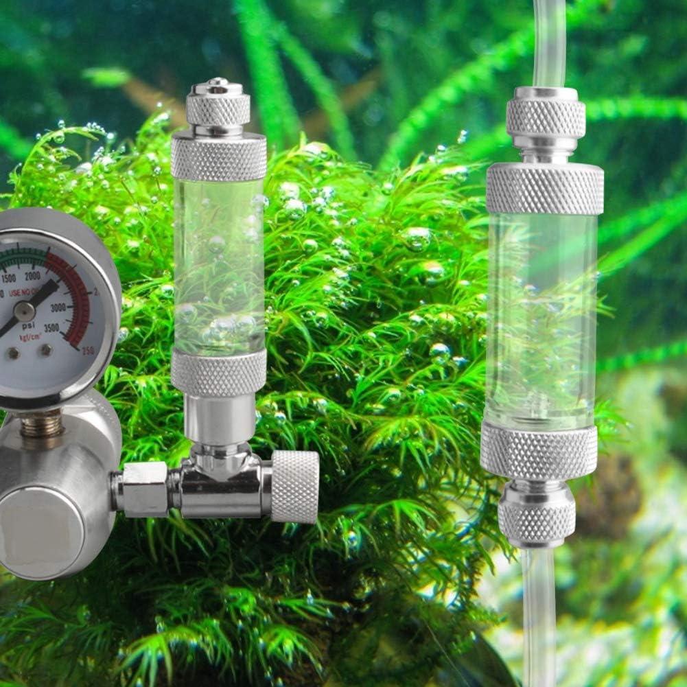 Pasamer Contatore di Bolle dellatomizzatore del diffusore di CO2 dellanidride carbonica Trasparente Acrilico per Le Piante dellacquario Acqua Erba