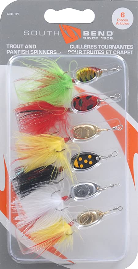 South Bend Trout /& Panfish Spinners 6 Pack Fishing Lures