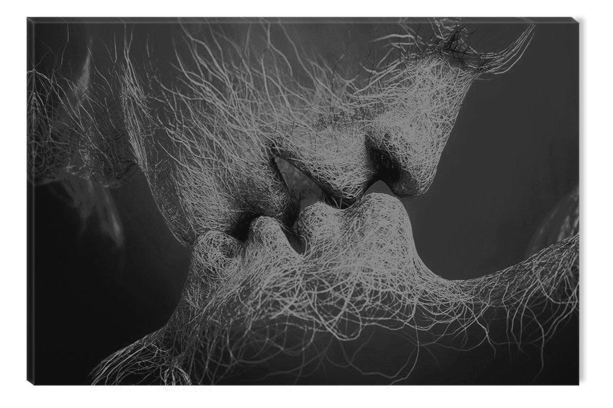 Startonight Quadro su Tela Bianco e Nero Adam e Eve, Stampe Incorniciato e Pronta da Appendere Design Moderno Arredamento Arte Fotografia Grande Formato 60 x 90 CM Made in Transylvania