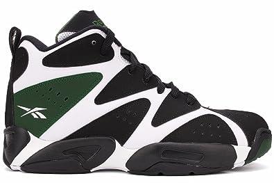 Reebok Kamikaze I Mid Basketball Shoes  WhiteBlackGreen Mens