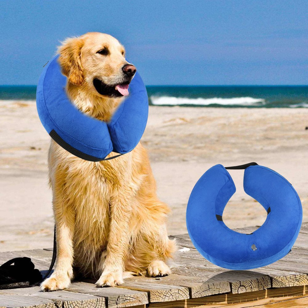 ONSON Protective Inflatable Dogs Collar, Soft Pet Recovery E-Collar for Small Medium Large Dogs and Cats, Designed to Prevent Pets from Touching Stitches (Small) by ONSON (Image #7)
