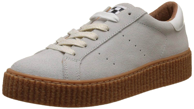 Unbekannt No Name Damen Flach Picadilly Sneaker Suede Flach Damen Blanc (Weiß Sole Beige Mastic) a748f1