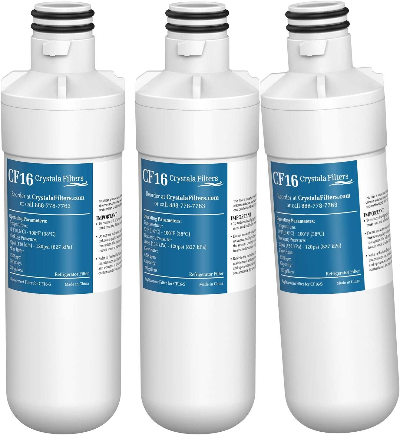 MDJ64844601 9980 Compatible with LG LT1000P LT-1000PC 3 PACK LT1000PC Kenmore 46-9980 ADQ74793501 by Pureza LT1000P Refrigerator Water Filter ADQ74793502