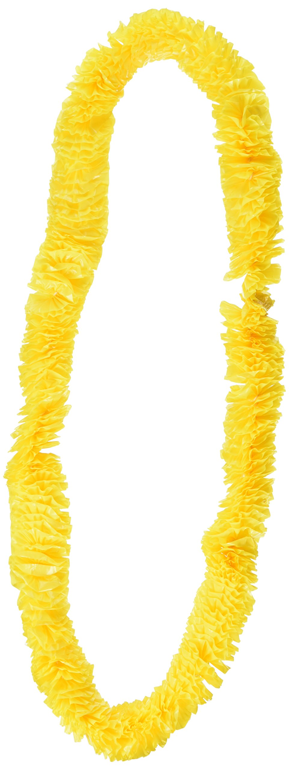 Beistle 66355Y50 50-Pack Soft-Twist Poly Leis Party Favors, 1-1/2 by 36-Inch