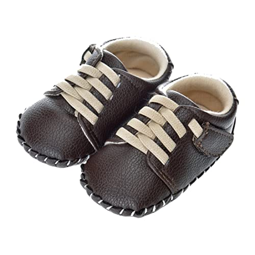 Kimber ❤️ Toddler Boy Girl Shoes Soft Leather Lace Up Sneakers Non-Slip  Outdoor Shoes for Newly Walking Baby Size 3 5 to 6 M