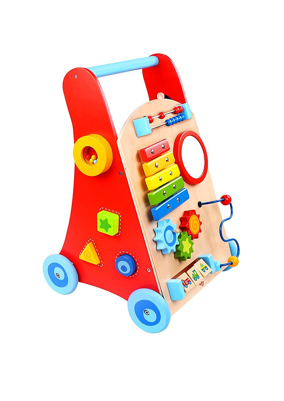 Tooky Toys TKC409 Wooden Baby Walker