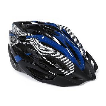 SODIAL(R) Casco Ciclismo Con Visera Azul Bici Bicicleta Mountain bike Helmet: Amazon.es: Deportes y aire libre