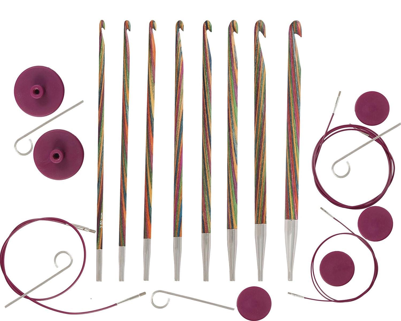 KnitPro 20735 Häkelnadel Set Symfonie Holz tunesisch, austauschbar ...
