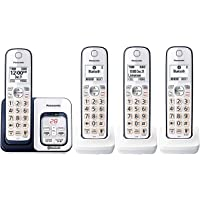 Panasonic KX-TGD564A2 Link2Cell Bluetooth Cordless Phone with Voice Assist and Answering Machine (4 Handsets)
