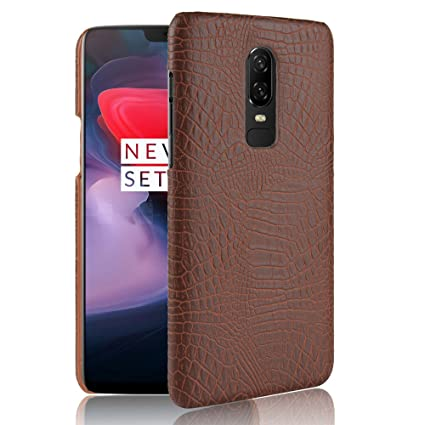 best cheap 5d742 482b7 Excelsior Premium Leather Back Cover case for Oneplus 6 (Coffee)