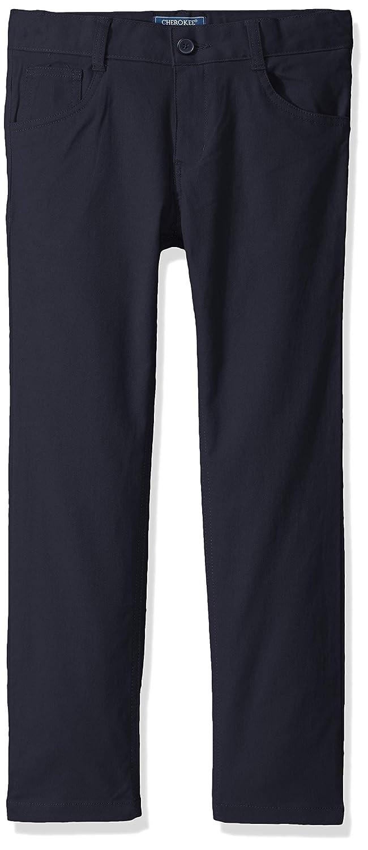 Cherokee School Uniforms Boys Big Modern Fit Flex 5-Pocket Twill Pant