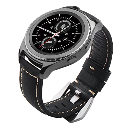 Galaxy Watch 42mm Band, Gear S2 Classic Bands, Gear Sport Band, Maxjoy 20mm Leather Replacement Strap for Samsung Galaxy Watch 42mm/Gear S2 Classic ...