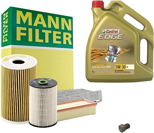 Inspektionspaket Mann Filter 5l Castrol Edge 5w30 Filterset Service Set Set P H 05 00108 Service Wartung Auto