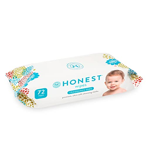 The Honest Company Baby Wipes, Fragrance Free, Classic, 72Count