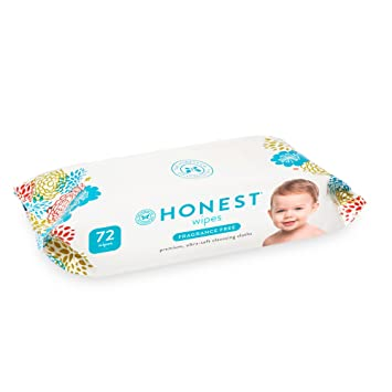 Honest Baby Wipes, Fragrance Free, White, 72 Count