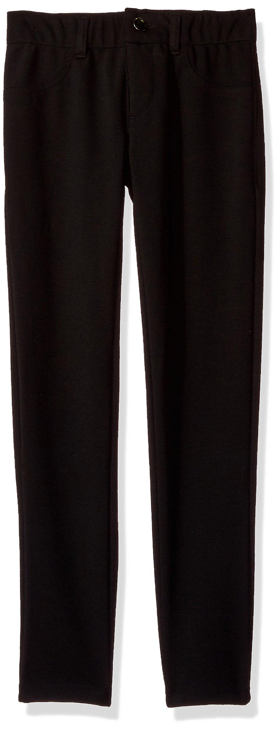 My Michelle Big Girls' Ponte Pant, Black, L