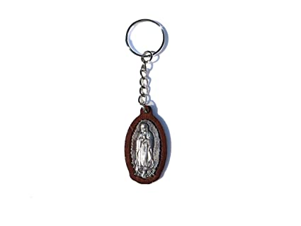 Amazon.com: Our Lady of Guadalupe Wooden Keychain Llavero de ...