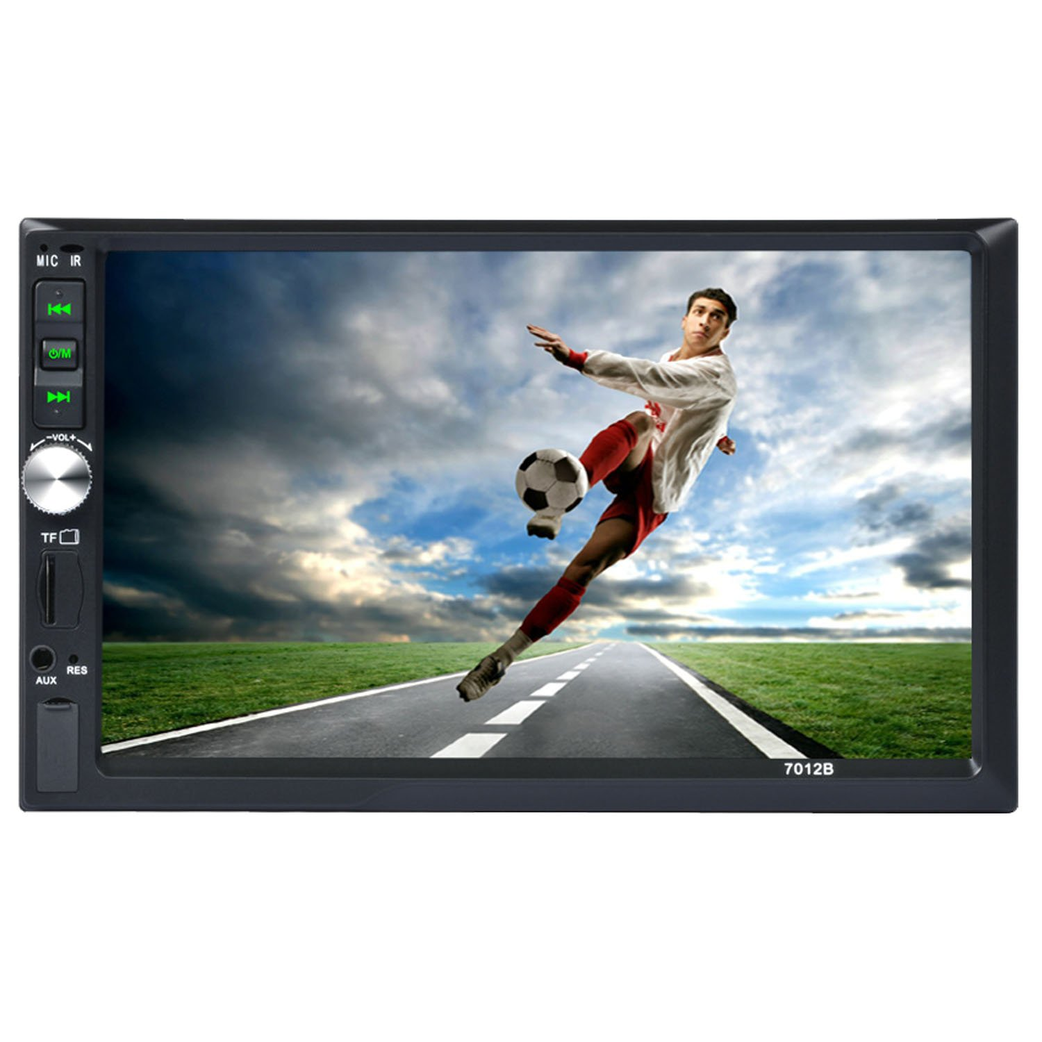 "Carlike 7"" Double DIN Touch Screen in Dash Bluetooth Car Stereo MP5 MP3 Audio 1080P Video Player FM Radio/TF/ USB/AUX-in/Suppport Rear View Camera + Remote Control"