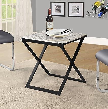 Olee Sleep Pearl Granite Top Metal Frame Coffee Table/ Tea Table / End Table /