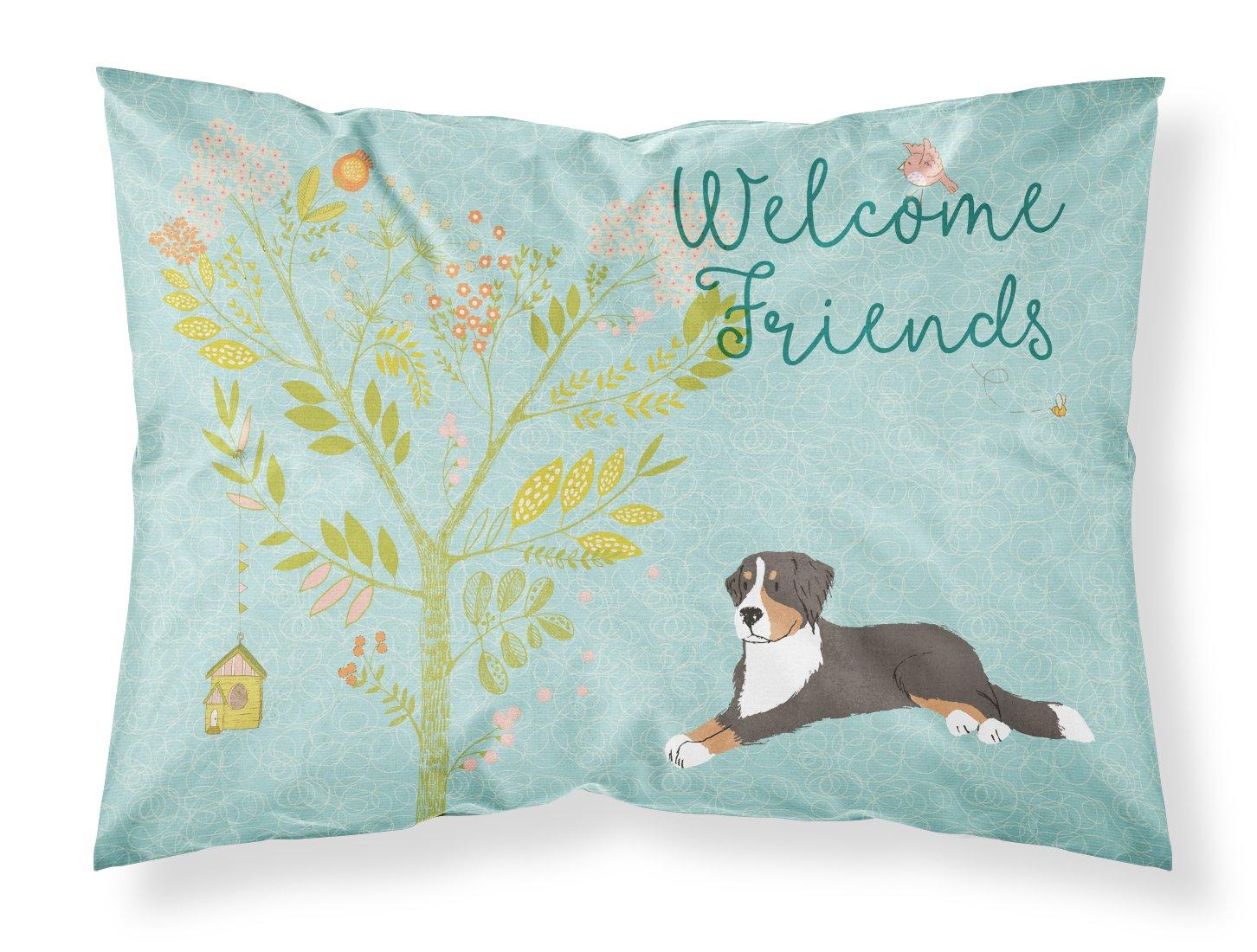 Caroline 's Treasures Welcome Friends Bernese Mountain Dog枕カバー、標準、マルチカラー B073K2LWL1