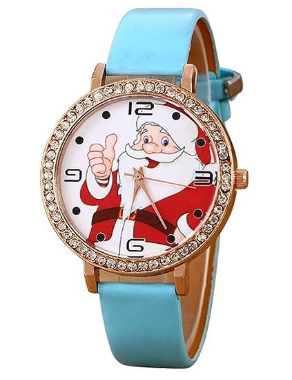 Para mujer reloj de cuarzo Cooki Remoción Navidad Papá Noel analógico hembra relojes mujer relojes de