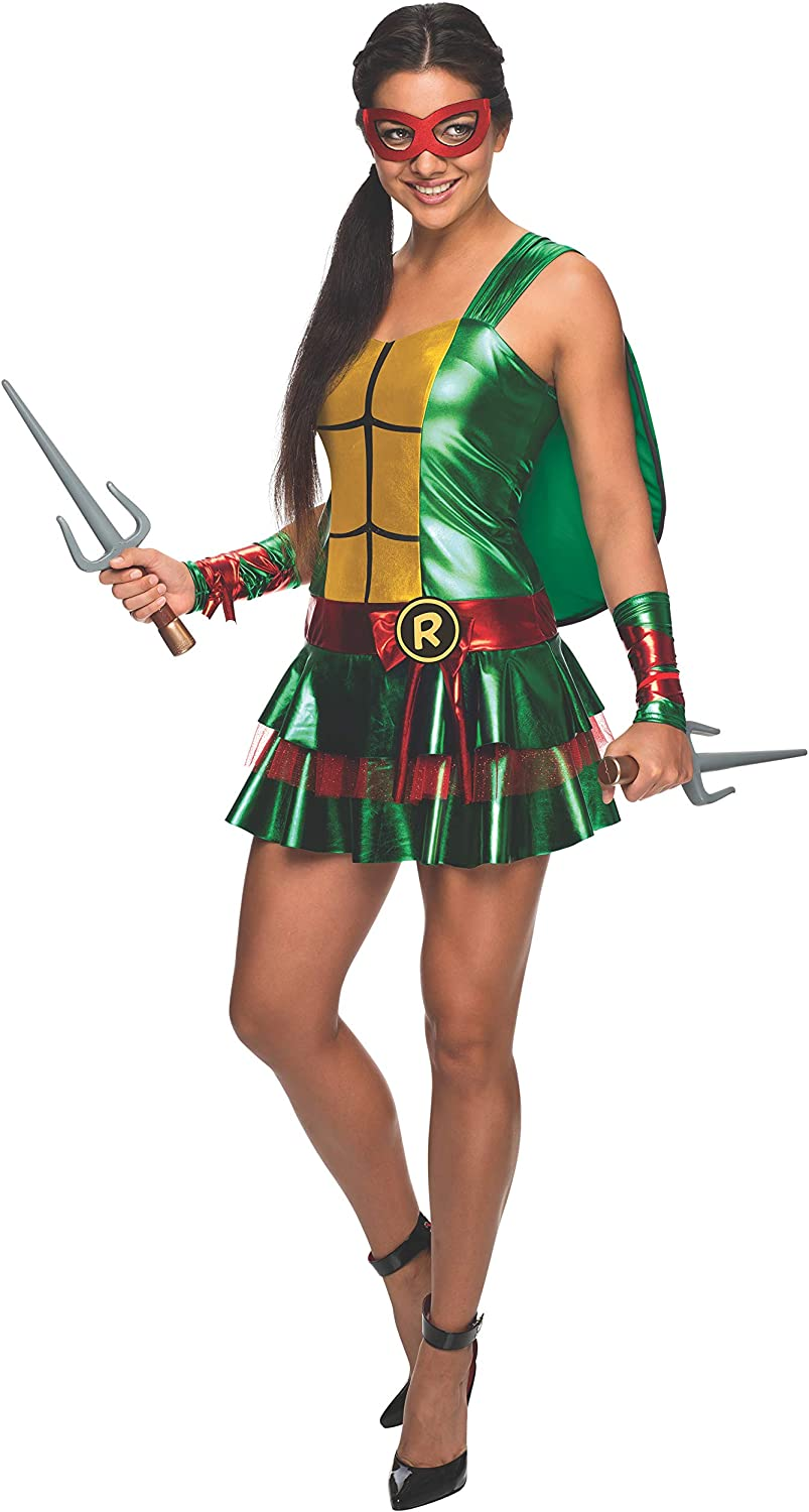 Secret Wishes Women's Teenage Mutant Ninja Turtles Raphael Costume Dress, Large