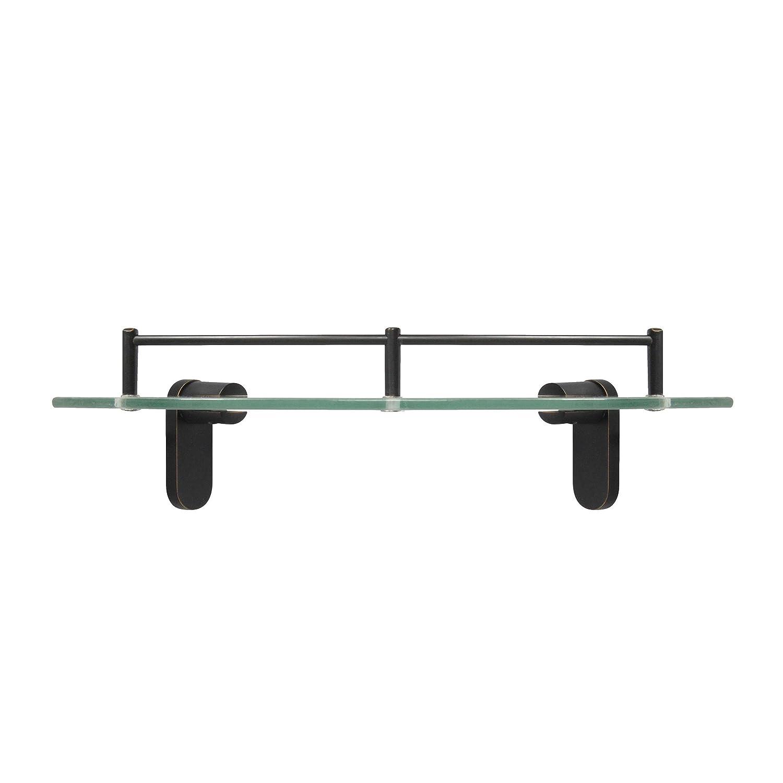Amazoncom Modona Corner Glass Shelf With Pre Installed Rail  Rubbed