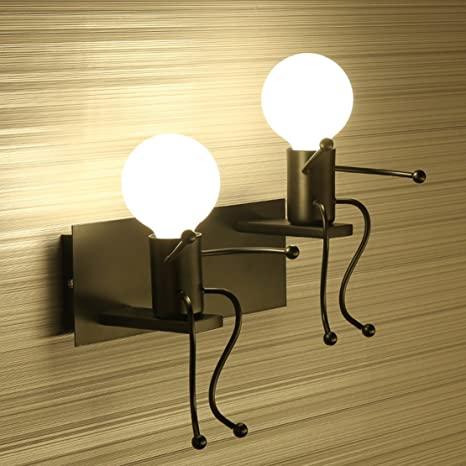 SOUTHPO LED Wall Light Fixtures Creative Cartoon Staggered Double ...