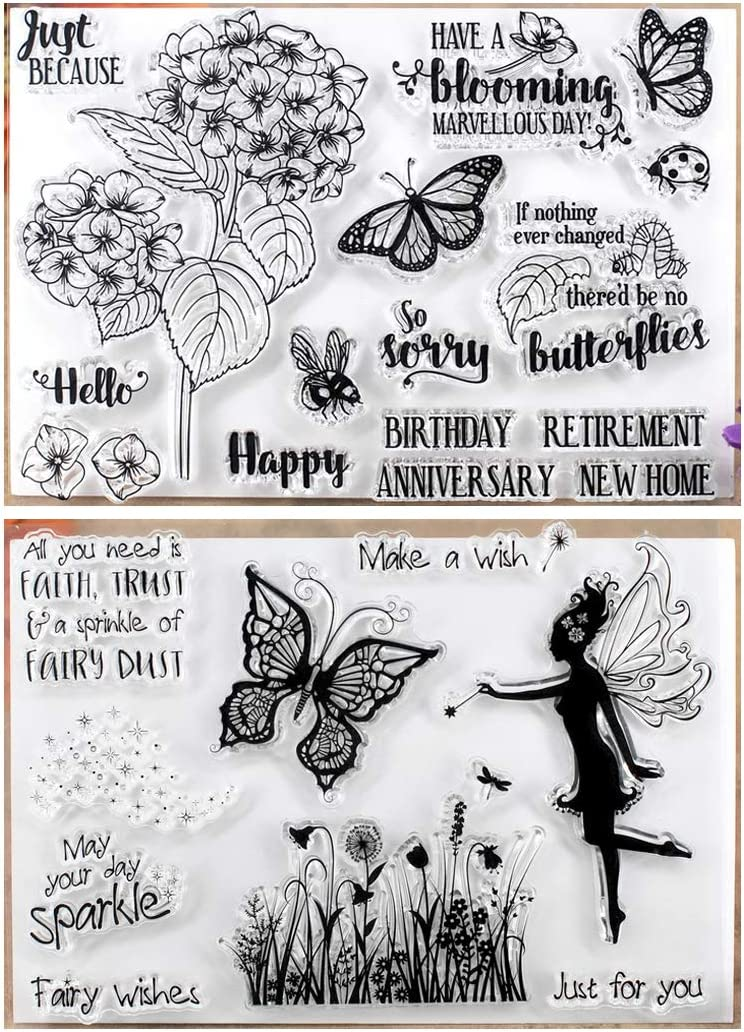 MaGuo Love and Faith Rubber Stamps for DIY Scrapbooking Paper Craft or Card Making Decoration