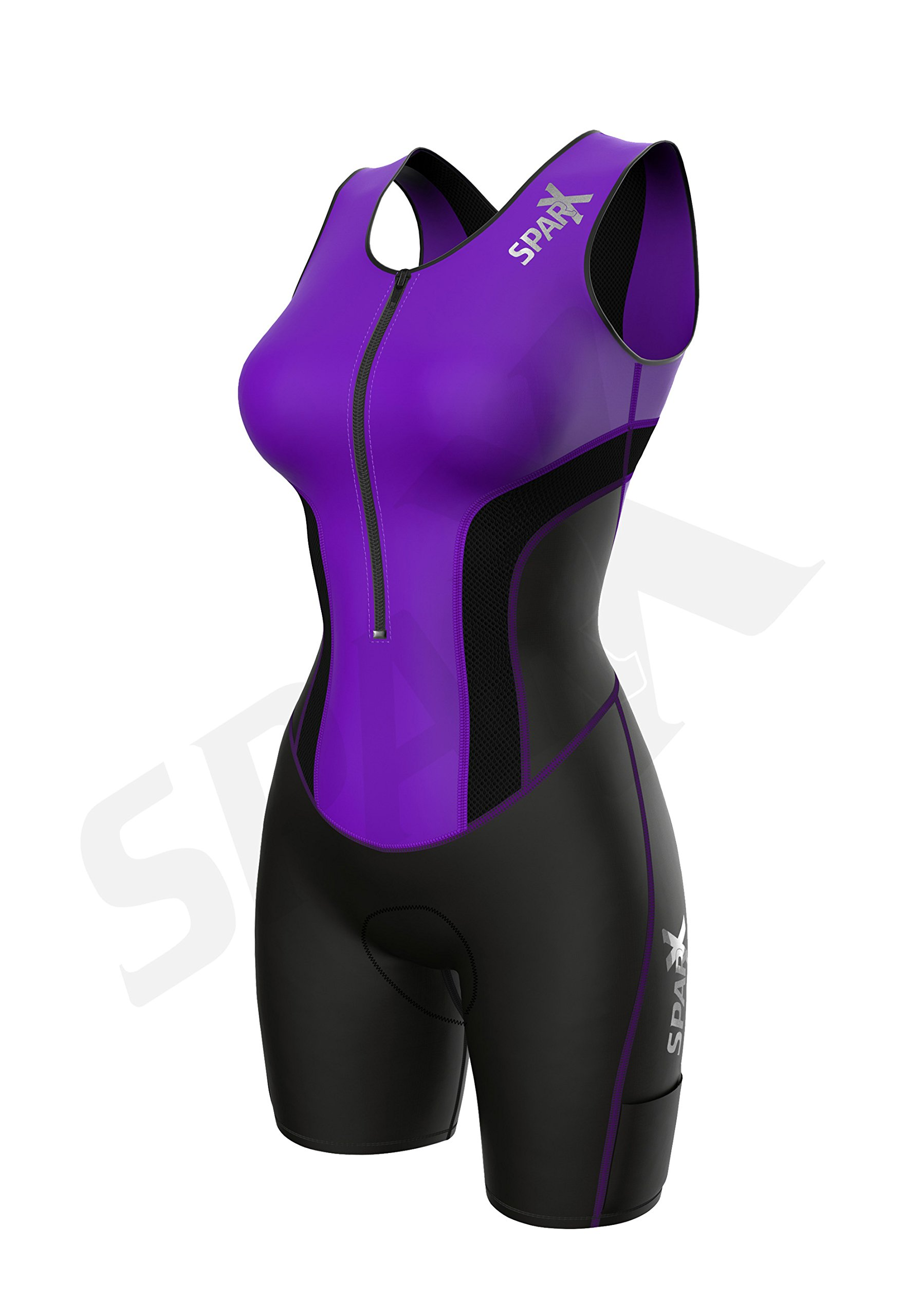 Sparx Women Triathlon Suit Tri Short Racing Cycling Swim Run (Small, Purple) by Sparx Sports (Image #2)