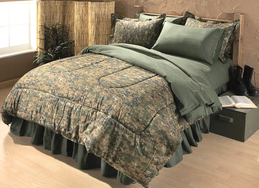 camo bedroom set.  Amazon com Army Digital Camo Bed in a Bag KING Home Kitchen