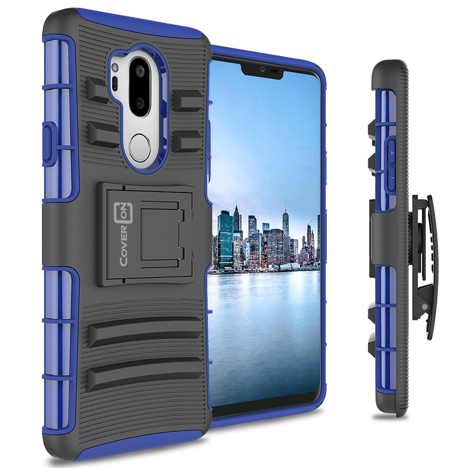 LG G7 ThinQ Holster Case, CoverON Explorer Series Heavy Duty Protective Hybrid Phone Cover with Kickstand and Belt Clip for LG G7 ThinQ - Black 4336769626