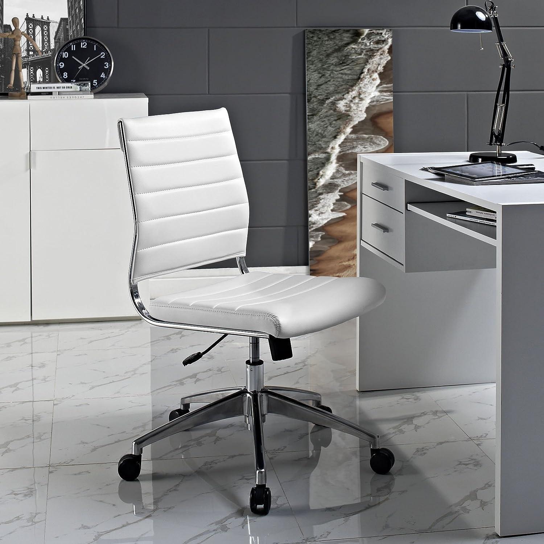 Características de la silla de oficina blanca Modway Jive Mid Back