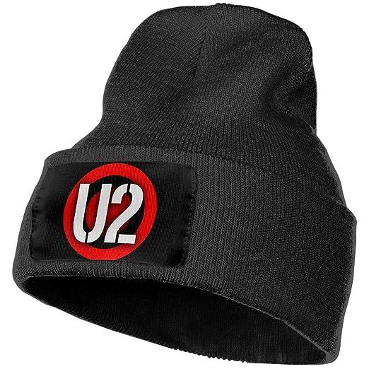 Amazon.com  BXNOOD Mens   Womens U2 Portal Logo Skull Beanie Hats ... 04ac36432