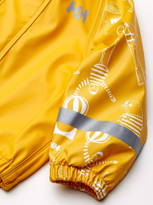 Helly-Hansen Kids /& Baby K Bergen Pu Printed Waterproof Rainset Jacket and Pants