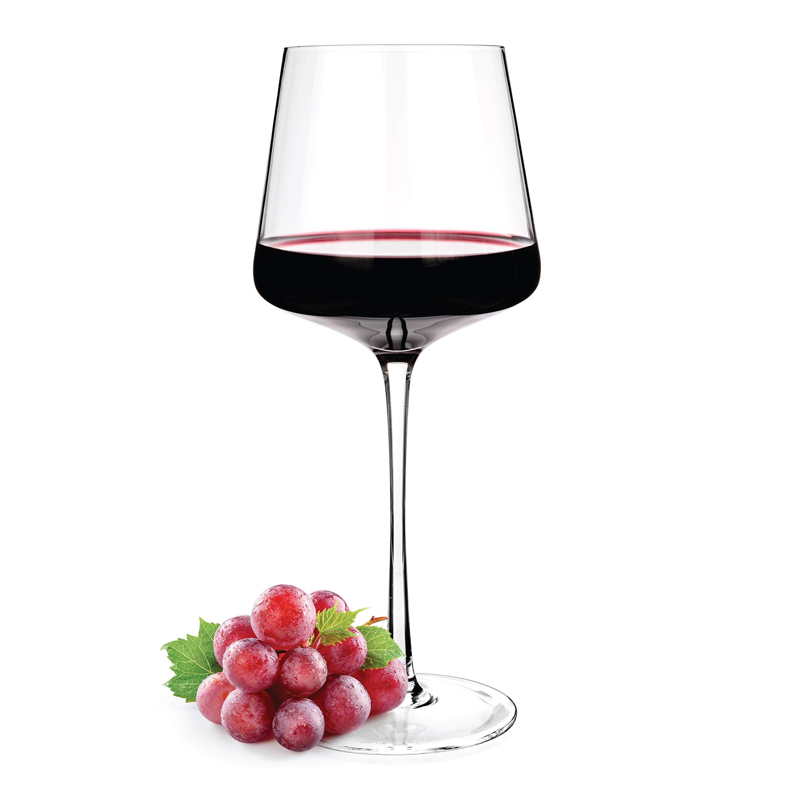 Luxbe - Crystal Wine Glasses 20.5-ounce, Set of 4 - Red or White Wine Large Glasses - 100% Lead Free Glass - Pinot Noir - Burgundy - Bordeaux - 600ml by Luxbe (Image #4)