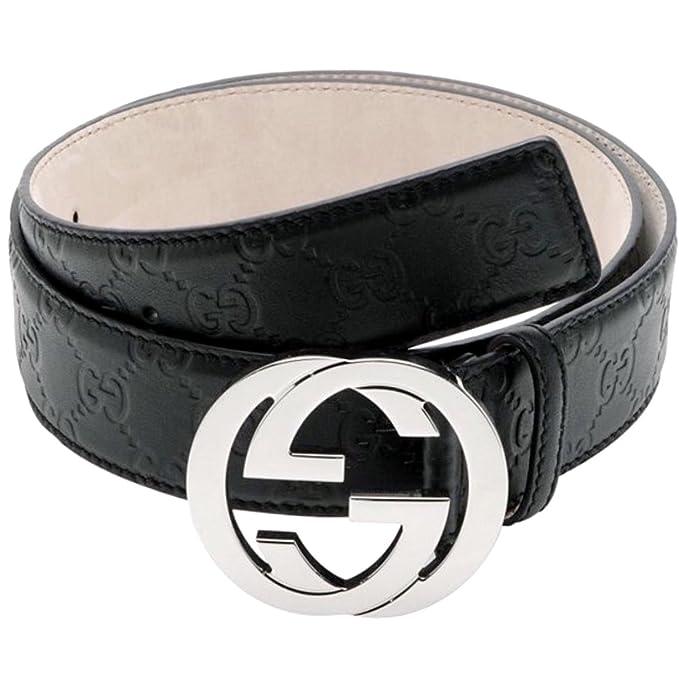 2553730b1fe Authentic Gucci Men s Black Guccissima Belt G Buckle 114984 AA61N (110cm  waist 38-40)  Amazon.ca  Clothing   Accessories