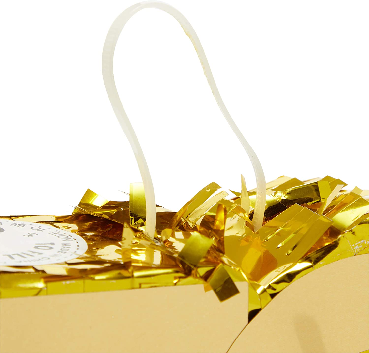 Mini Gold Foil Number 70 Pinata for 70th Birthday Party 7.5 x 6 x 2 Inches