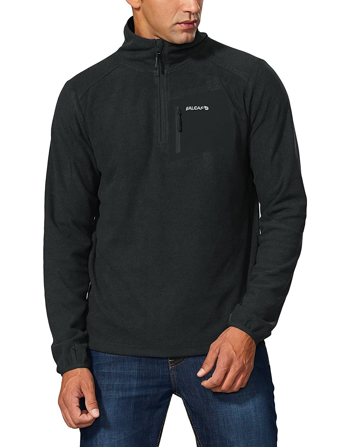 00a19386fe6 Quick-drying thermal fleece has a great warmth-to-weight ratio. Half zip  closure for ventilation