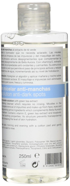 Bella Aurora Leche Limpiadora Facial Anti-Manchas Desmaquillante con Extracto de Papaya para Piel Normal o Seca, 250 ml