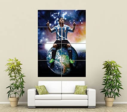 Amazing BARCELONA LIONEL MESSI FOOTBALL GIANT WALL ART PRINT POSTER PICTURE ST750
