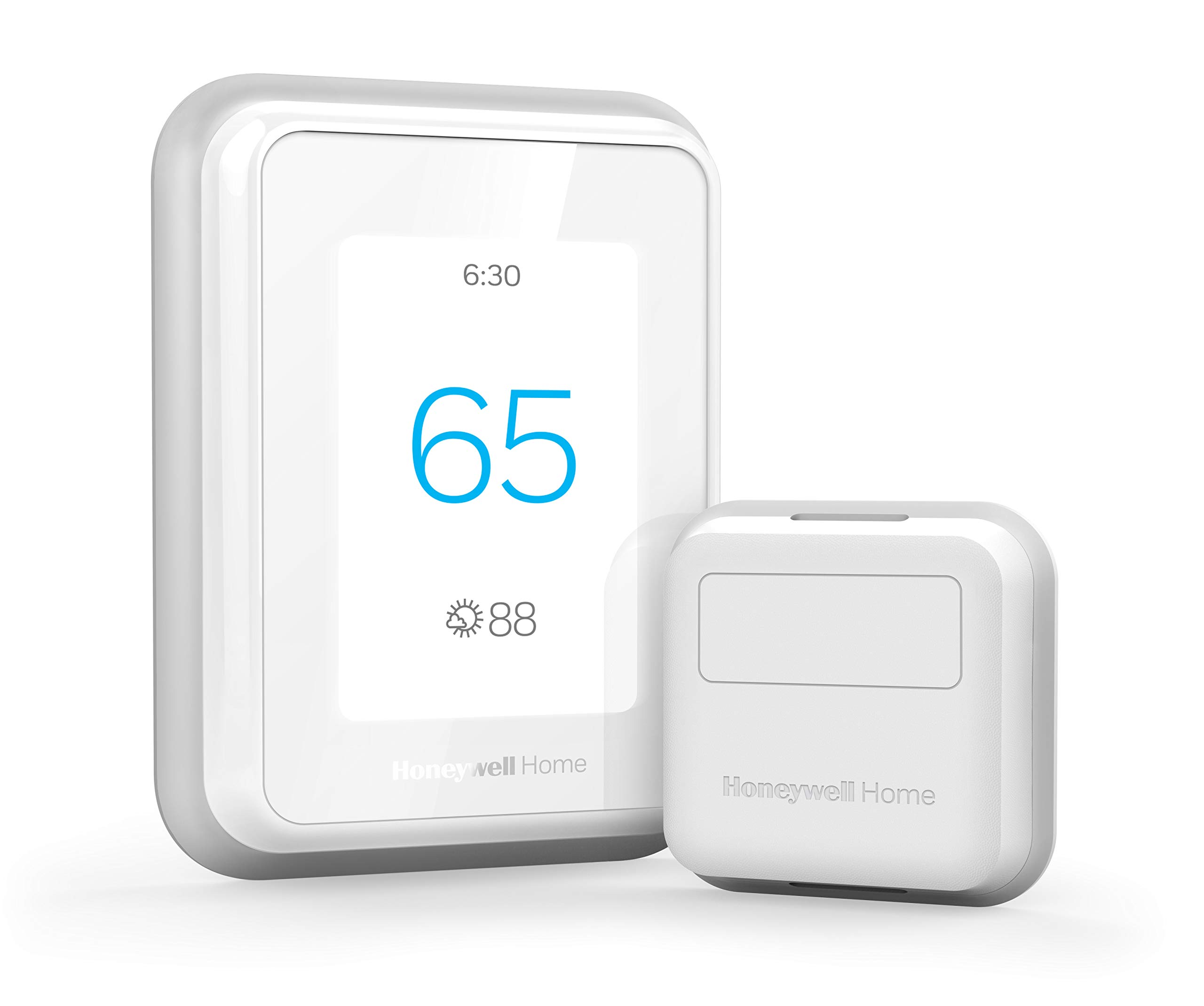 Honeywell Home T9 WIFI Smart Thermostat with 1 Smart Room Sensor, Touchscreen Display, Alexa and Google Assist by Honeywell
