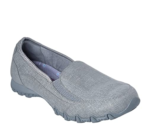 latest fashion 100% authentic classic Skechers Relaxed Fit Bikers Confidence Womens Slip On Loafers Gray ...