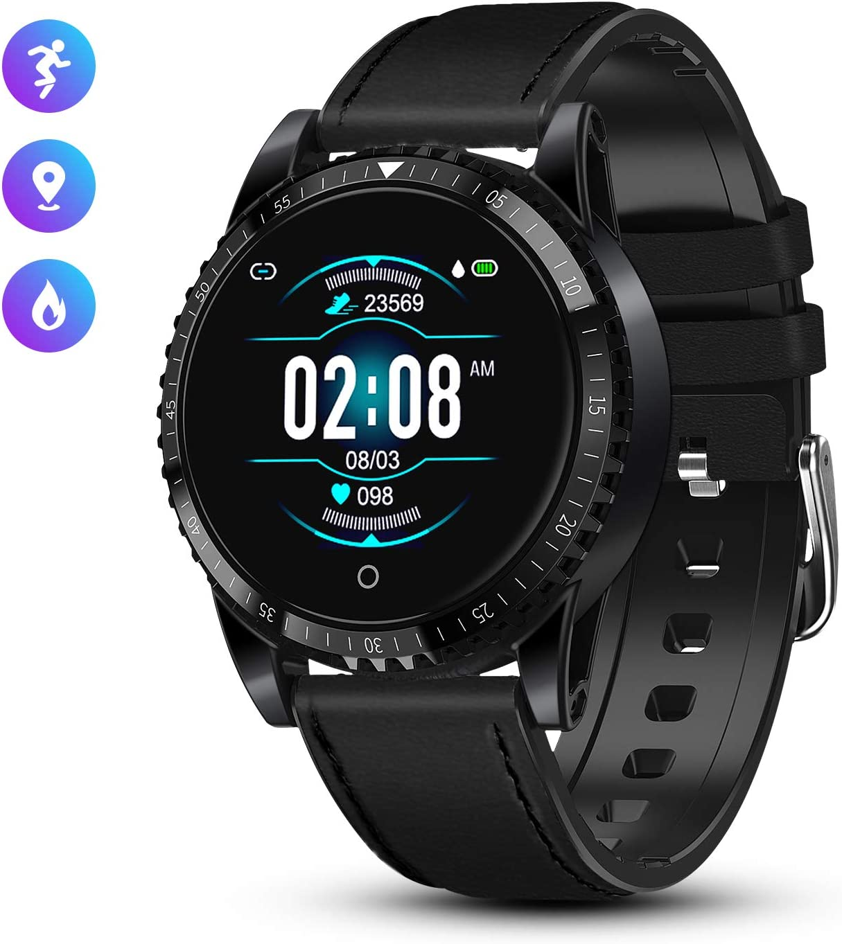 GOKOO Reloj Inteligente Bluetooth Smartwatch Hombre Deportivo con ...