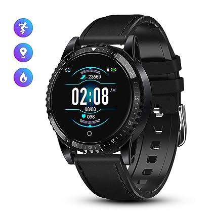 GOKOO Reloj Inteligente Bluetooth Smartwatch Hombre Deportivo con Monitor de Ritmo Cardíaco/Sueño/Presión Sanguínea Podómetro Rastreador de Fitness ...