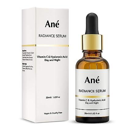Sérum de radiación Ané Vitamina C con ácido hialurónico, antienvejecimiento, ligero y multiactivo,