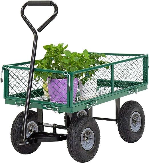 Carros de jardín, carrito de salto para jardín, carrito de césped, carrito de uso al aire libre, de acero, resistente, para playa, césped, patio, paisaje: Amazon.es: Jardín