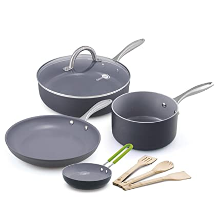 ffb0e5761424 Amazon.com: GreenPan Lima 8pc Ceramic Non-Stick Cookware Set ...
