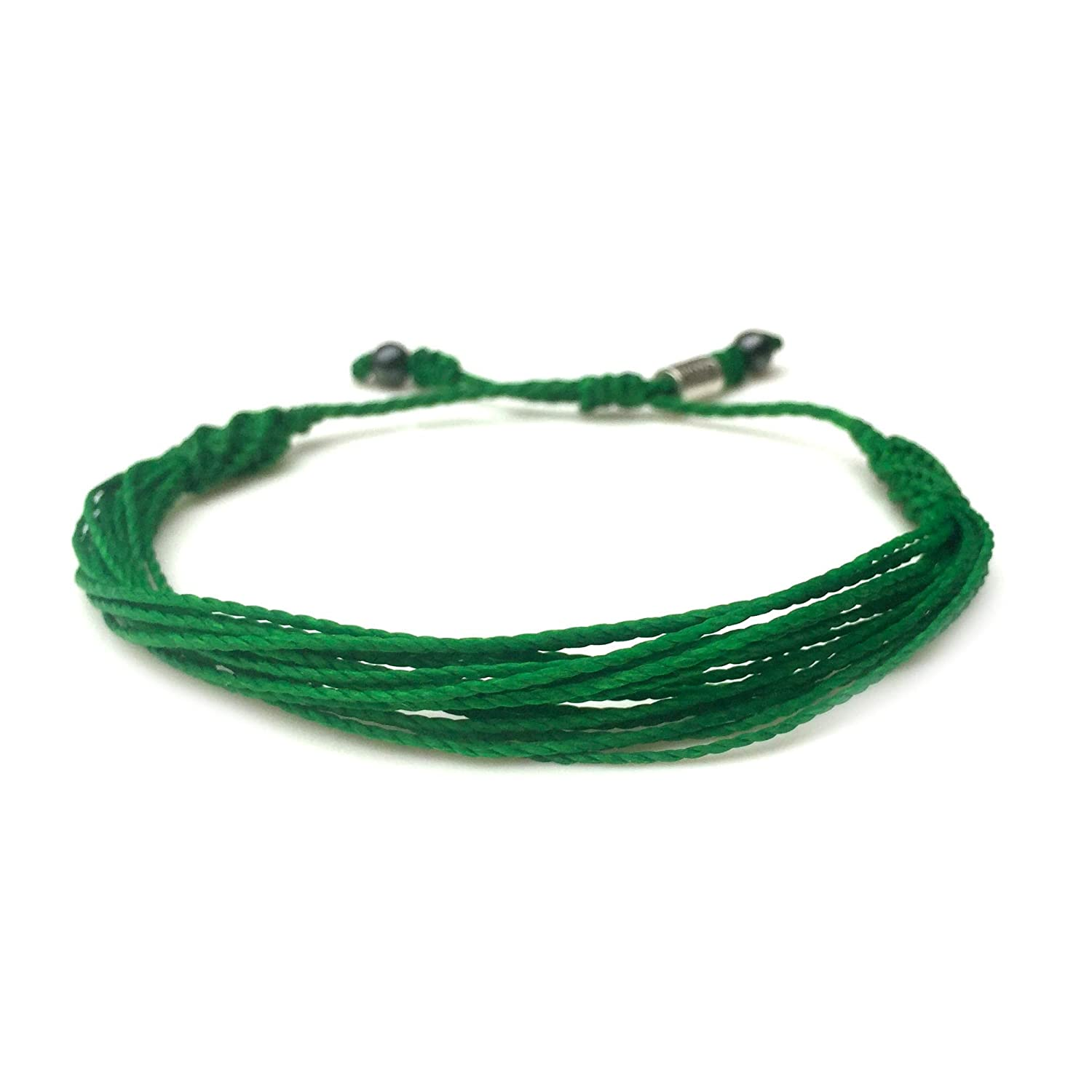 Handmade Custom Sized Adjustable Cause Jewelry for Men Women and Kids RUMI SUMAQ Green Awareness Bracelet for Liver Gallbladder Bile Duct Cancer Mental Health Depression Cerebral Palsy